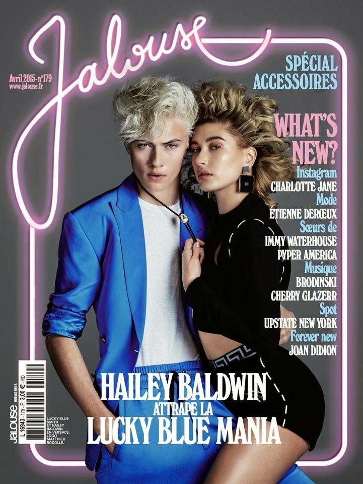 Model @ Hailey Baldwin & Lucky Blue Smith for Jalouse April 2015