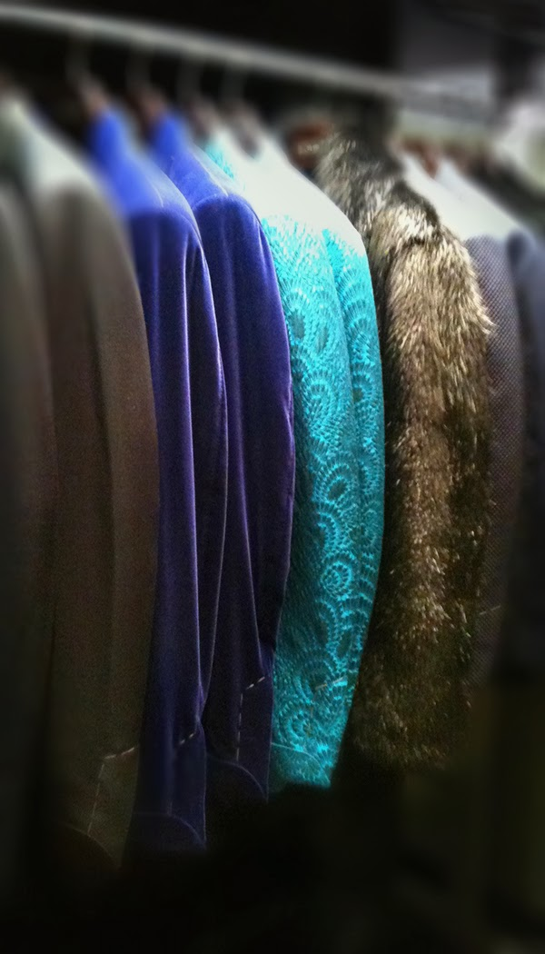 Tom Ford Men's Tuxes and dinner jackets in velvet, brocade and fur.