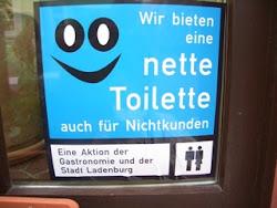 Kostenlose Toiletten. Leider nicht in Erfurt gefunden!