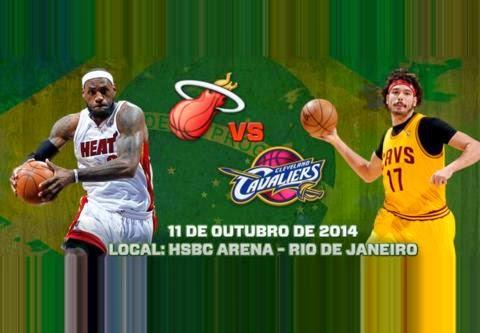 Ingressos Miami Heat x Cleveland Cavaliers Rio de Janeiro 2014