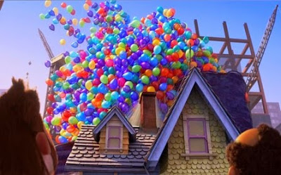 up arriba disney pizar balloons globos casa house pete docter Carl Fredricksen