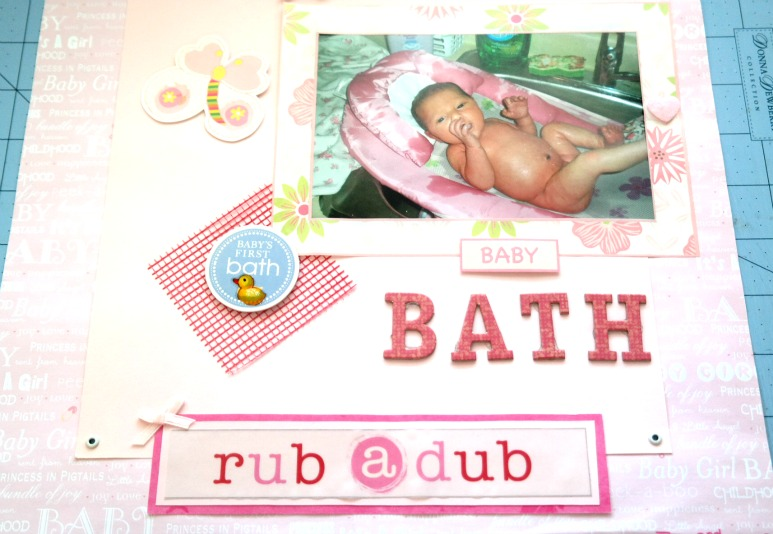 Passionate About Crafting Babys First Bath Scrapbook Layout Idea