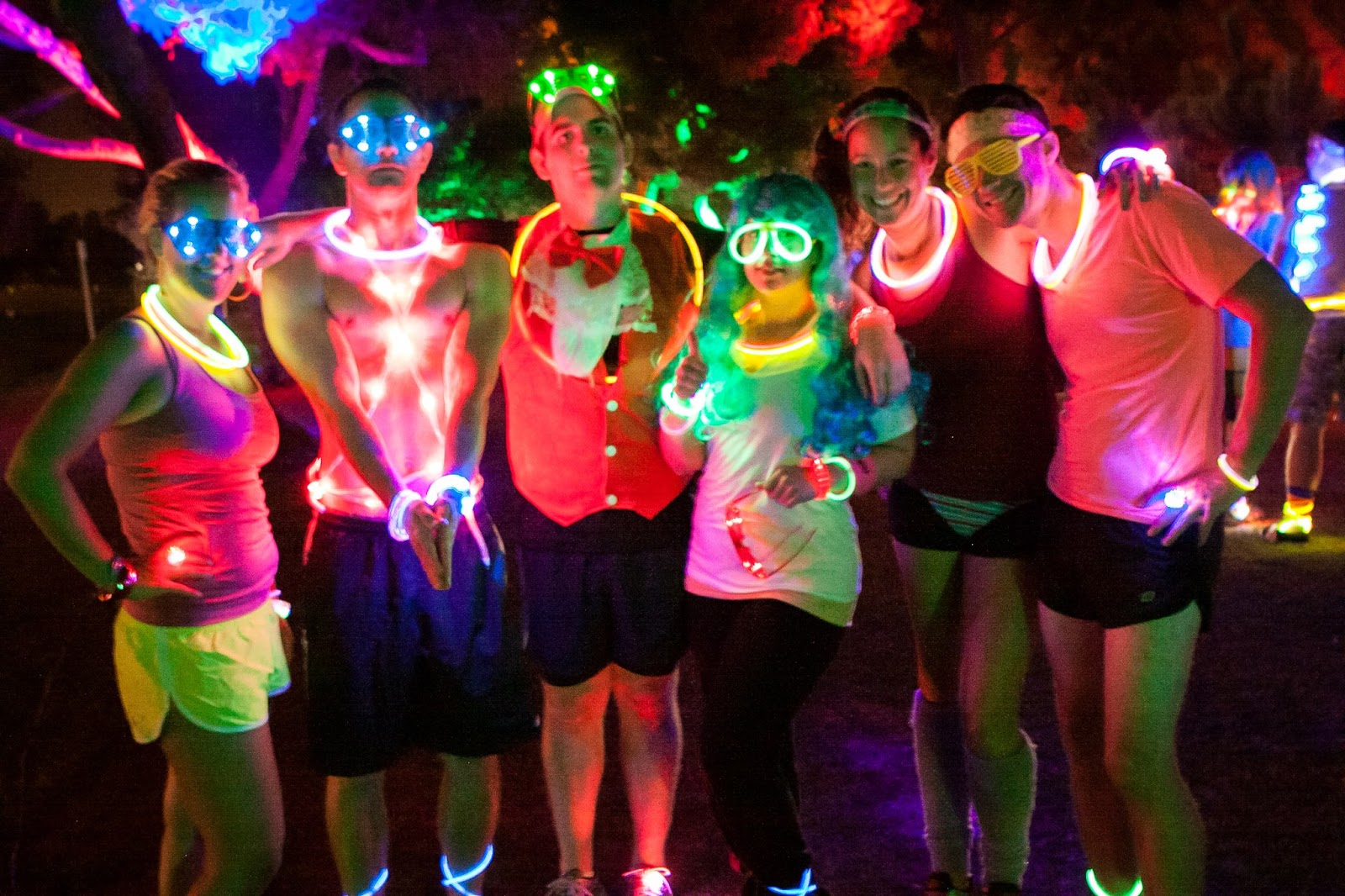 Glow Neon Run With Neon Attire And Glow