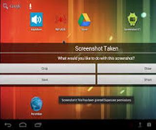 cara mengambil screen shoot layar tablet