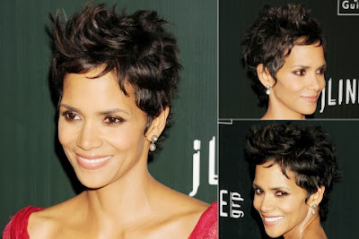 Halle Berry Casual Short Hairstyle Curly Celebrities