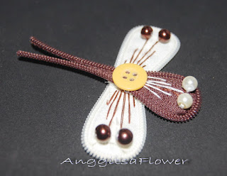 Bros Resleting Capung (Zipper Dragonfly Brooch)