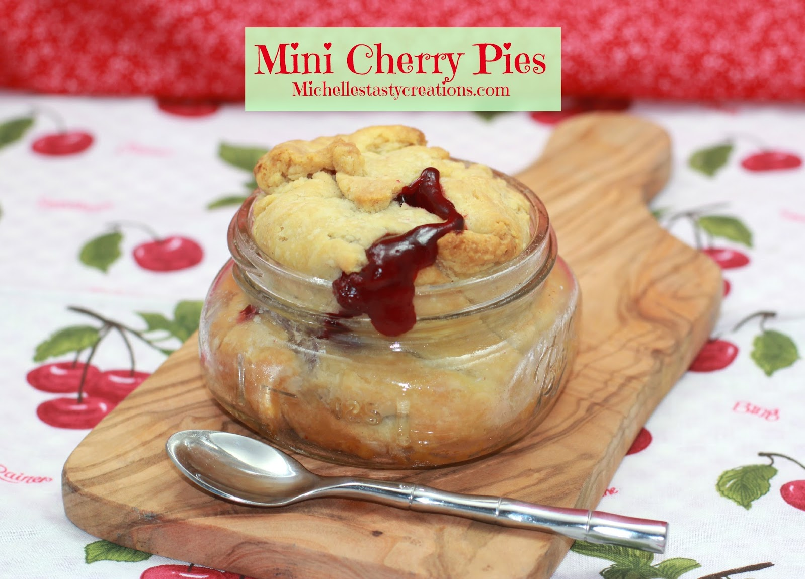 Michelle's Tasty Creations: Mini Cherry Pies and a Giveaway