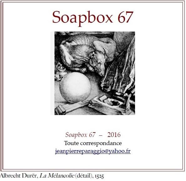 SOAPBOX 66 & 67 - FEUILLETS DE L'UMBO, NOVEMBRE 2016, ART & POÉSIE