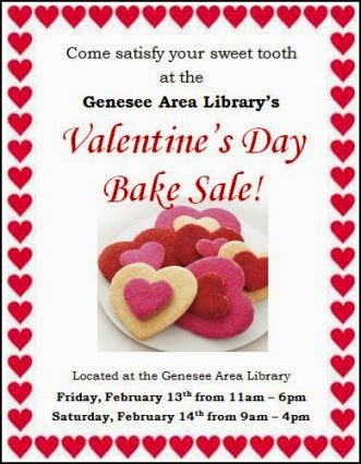 2-13/14 Genesee Library Bake Sale