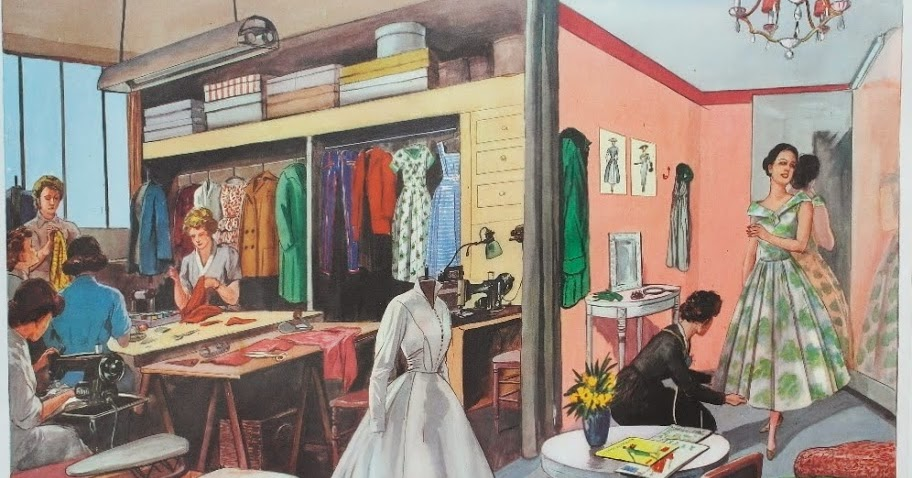 manuels anciens affiche le salon de couture locution mdi. Black Bedroom Furniture Sets. Home Design Ideas