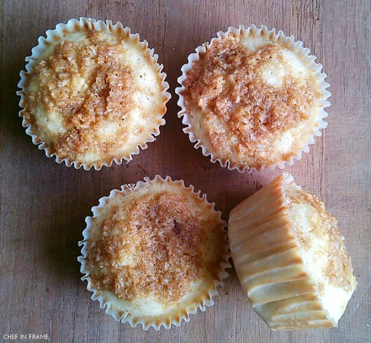Easy Coconut Crumb Muffins with Coconut Crumbs on Top