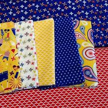 February mystery quilt fabrics