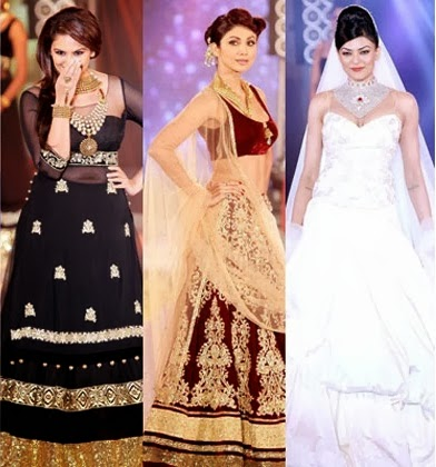 Bollywood Celebrities on the ramp walk at India International Bullion Summit
