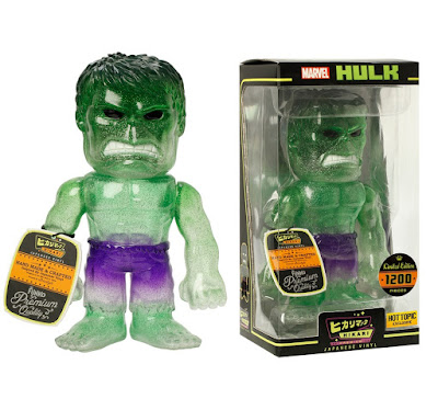 "Hot Topic Exclusive ""Green Glitter"" Hulk Marvel Hikari Sofubi Vinyl Figure by Funko"