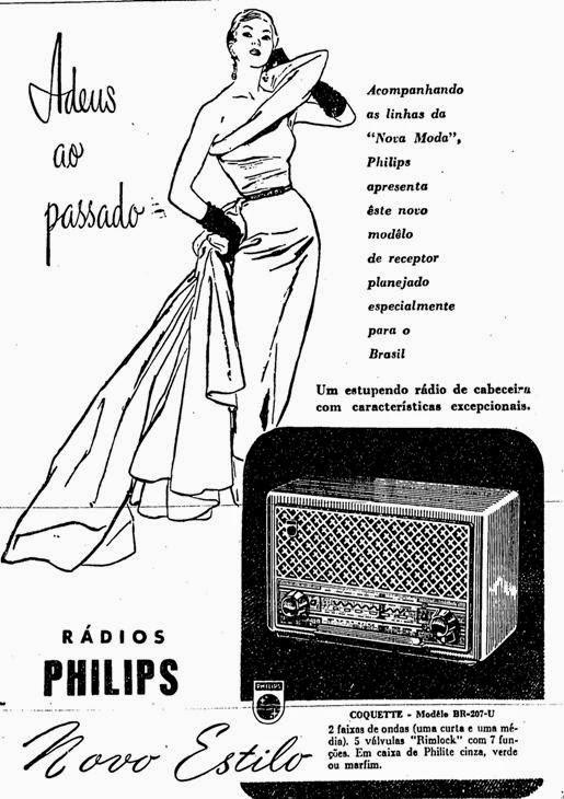 Propaganda do Rádio Philips, apresentado em novo modelo para o ano de 1952.