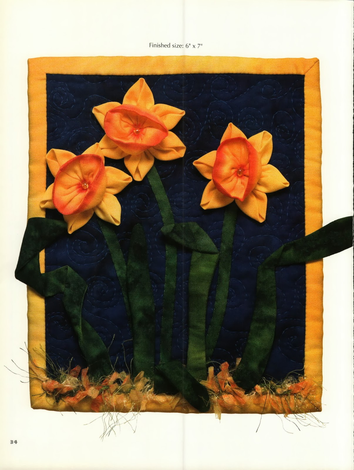 Объемная цветочная аппликация | Fabulous Flowers 3D