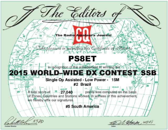 CQWWSSB Low Power - Single Op 15m