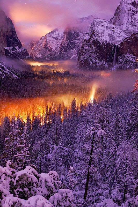 Winter in Yosemite Vally, California