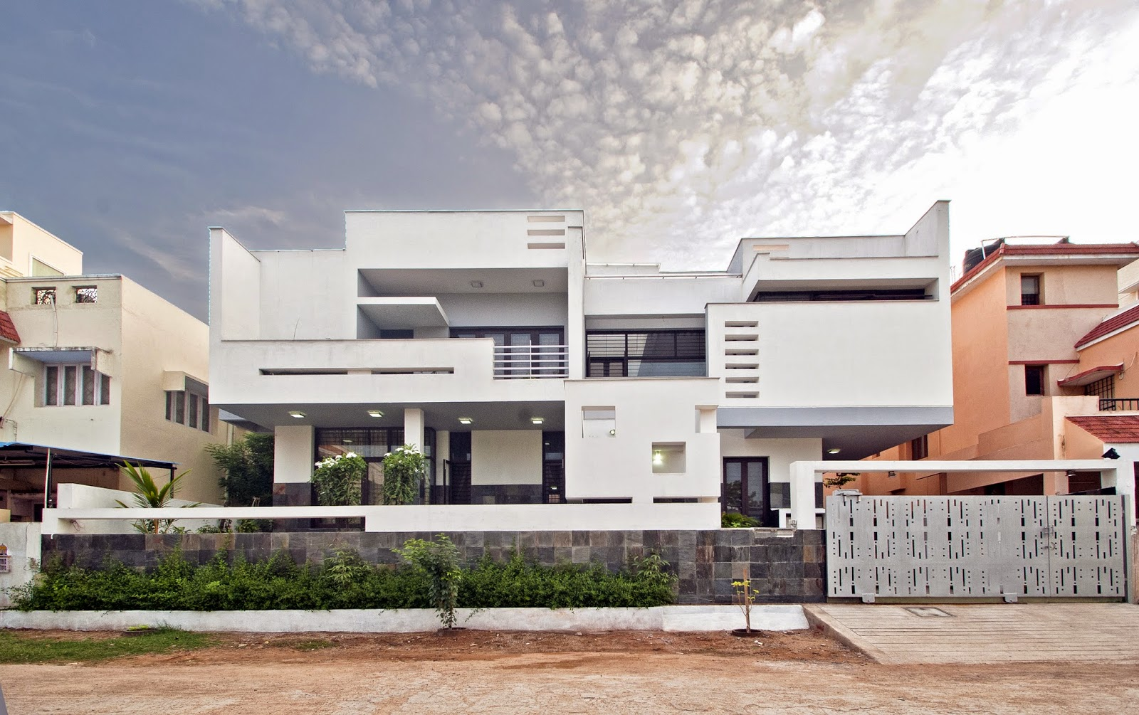 Murali architects residence for mr jude and family at for Home architecture coimbatore