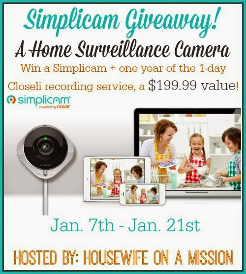 Enter the Simplicam Giveaway. Ends 1/21