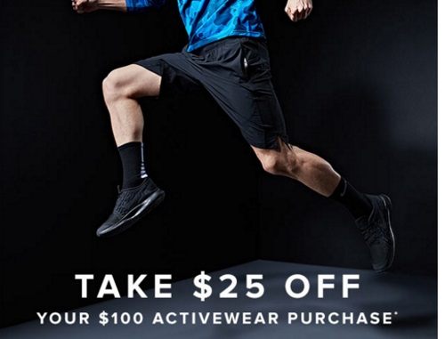 Hudson's Bay New Year New You $25 Off Activewear Promo Code