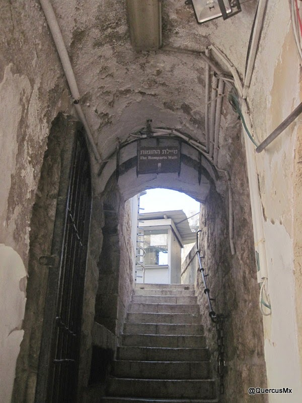 Acces to the ramparts of Jerusalem, near Jaffa Gate