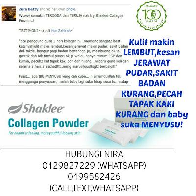 Shaklee Collagen Powder Terbaik,terbukti berkesan,untuk kesihatan menyeluruh. Dapatkan dengan saya,pengedar sah shaklee bachok. Hubungi sekarang 0129827229/0199582426.