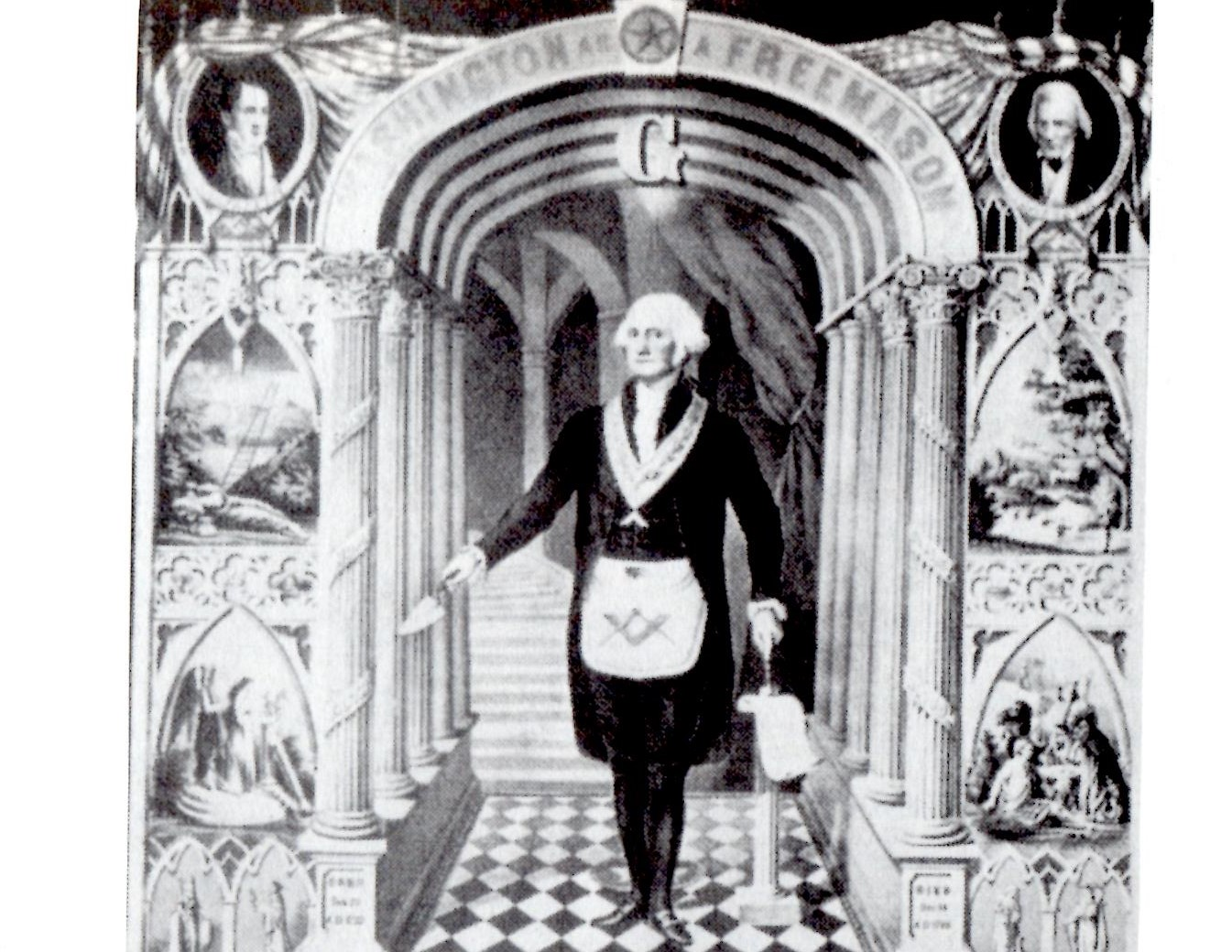 Freemason George Washington (source: Library of Congress)