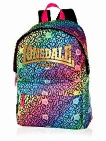 Londale Neon Leopard Print Backpack