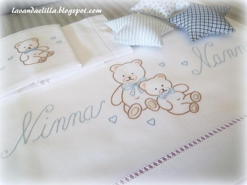 Lavanda e lill orsetti su lenzuolino da lettino - Lenzuola da colorare romane ...