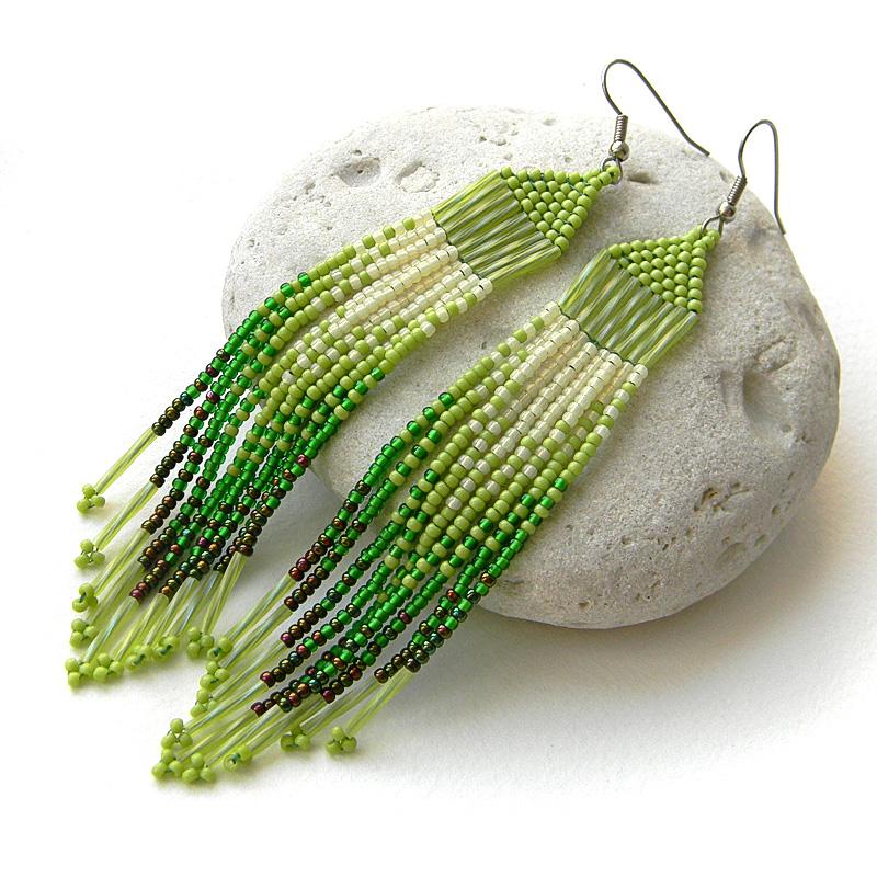 Серьги из бисера - украшения ручной работы от Anabel