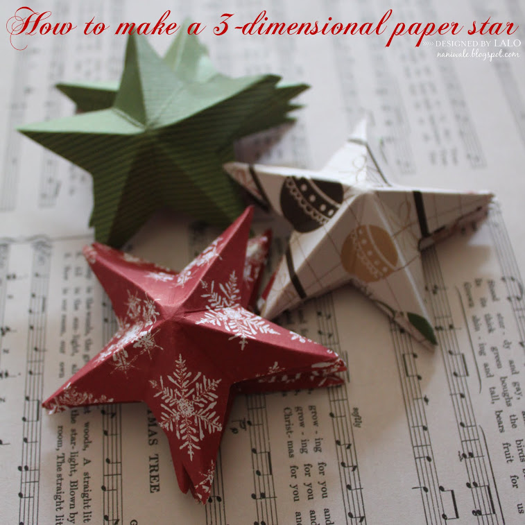 3D paper star
