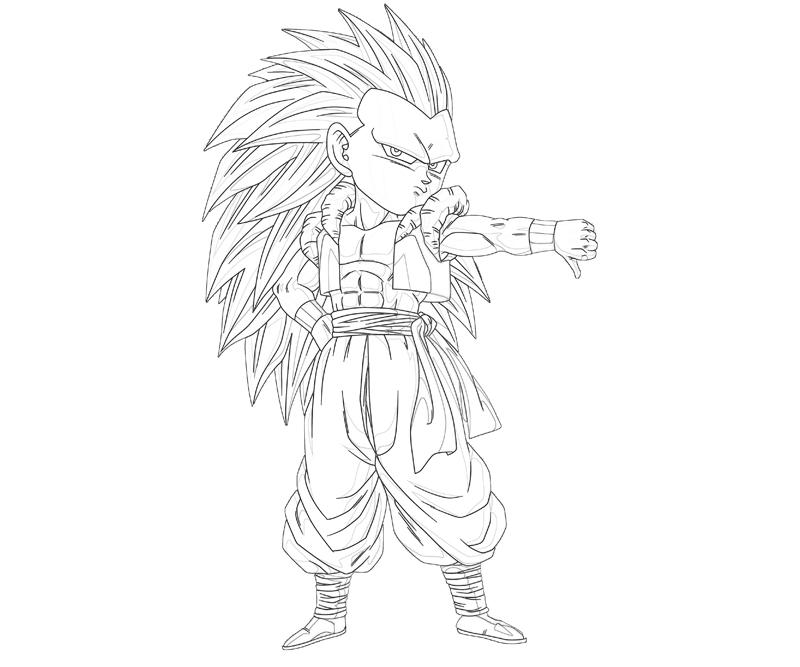 goten coloring pages - photo#9