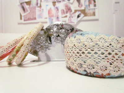 Shabby Chic Bracelet, DIY Bangles, Lace Bangles, DIY Jewellery