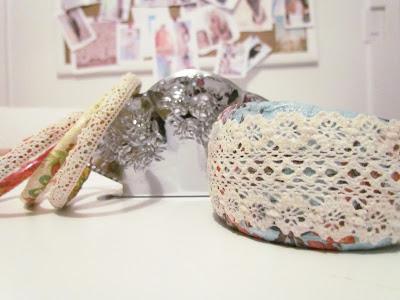Shabby Chic Bracelet, DIY Bangles, Lace Bangles, DIY Jewellery