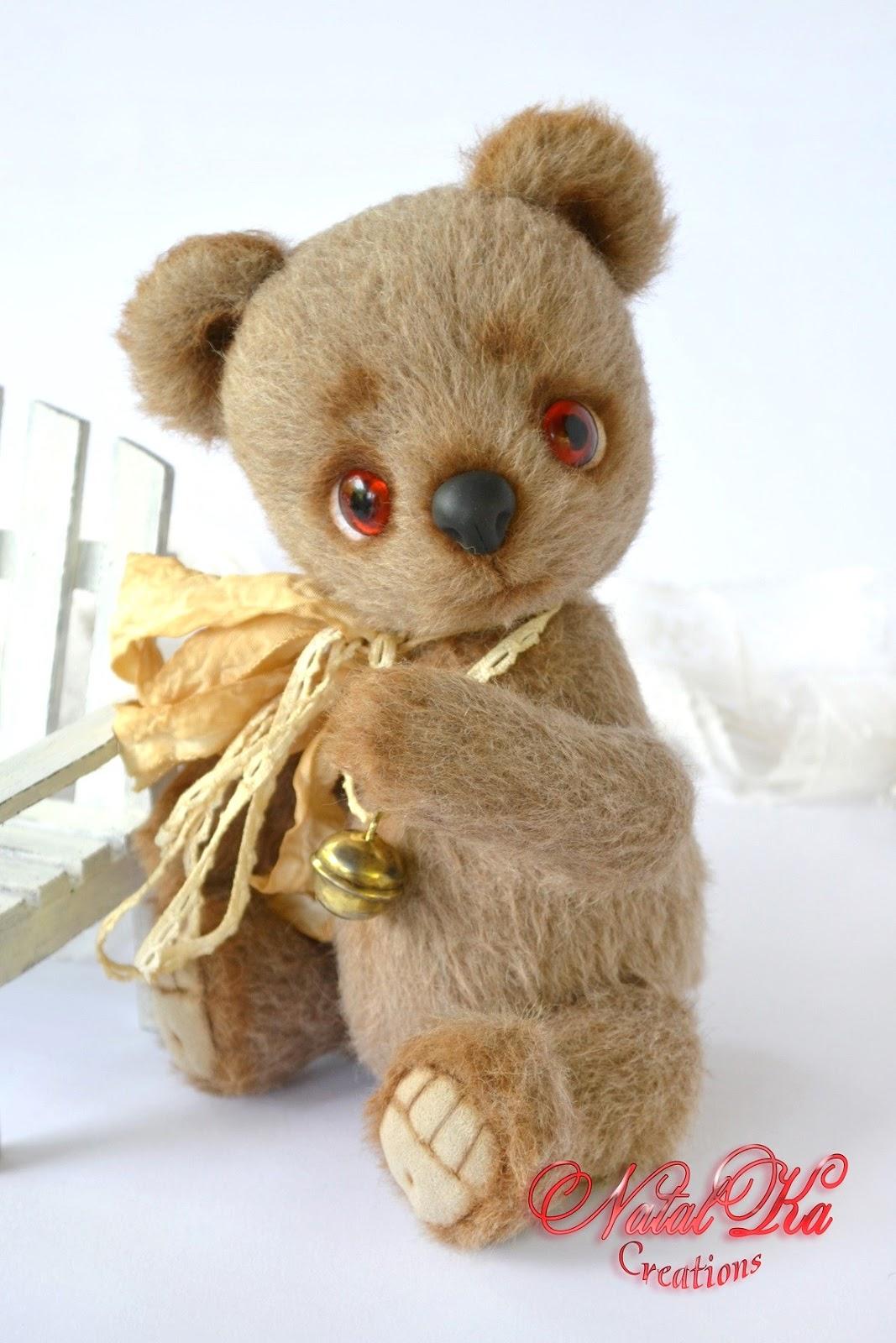 Авторский мишка теди медведь медвежонок из кашемира ручной работы от NatalKa Creations. Künstlerbär Bär Sammlerbär  Teddybär Teddy handgemacht von NatalKa Creations