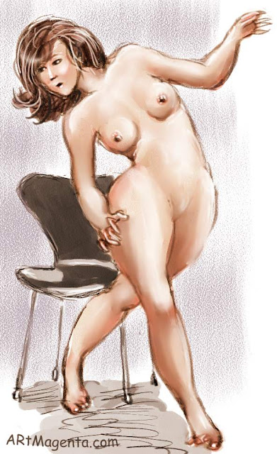 Chair Seven is a life drawing painted by Artmagenta