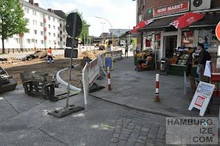 Kieler Straße / Koldingstraße - Baustelle
