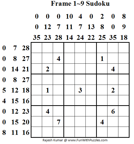 Frame 1~9 Sudoku (Daily Sudoku League #55)