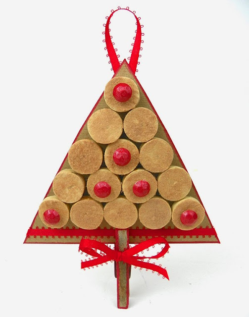 cork cardboard christmas tree ornament