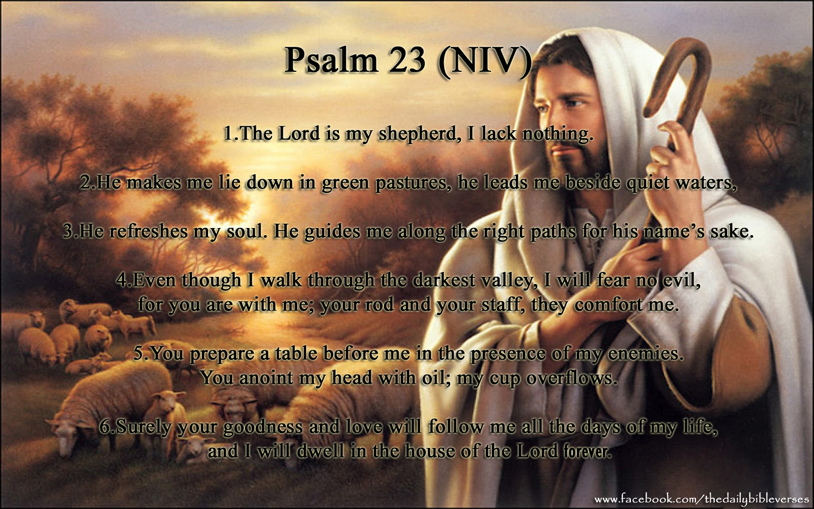 psalm 23 Every year, psalm 23 ranks as one of the most-read chapters of the bible this inspiring version will show you exactly why people find so.