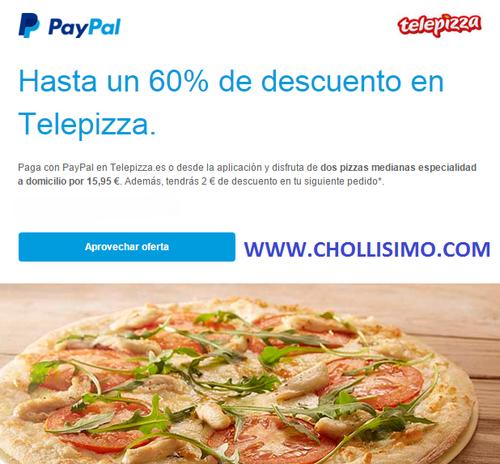 Descuento Telepizza Paypal