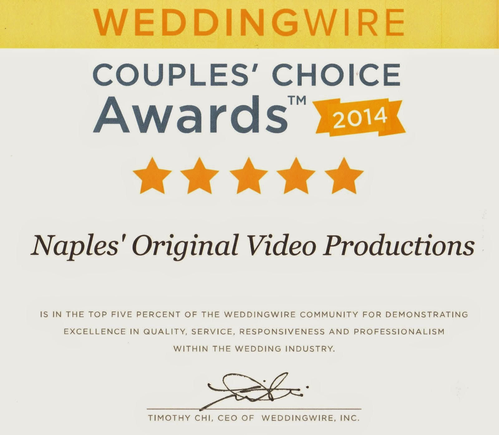 2014 Couple's Choice Award
