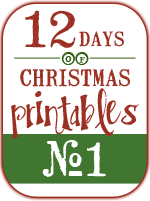 The Joy Banner & A Giveaway (12 Days of Christmas Printables #1)