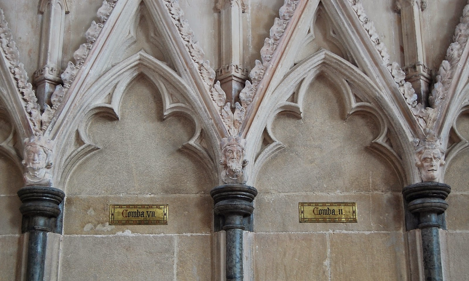 Carved heads in Chapter House