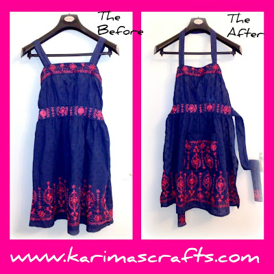 dress apron tutorial upcycle muslim blog