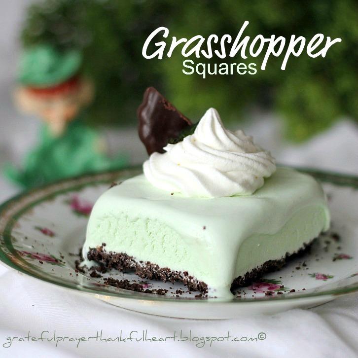 ... Grateful Prayer and a Thankful Heart: Grasshopper Dessert Squares
