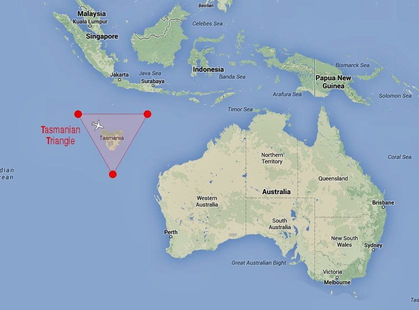 Tasmanian Triangle may have claimed flight MH370