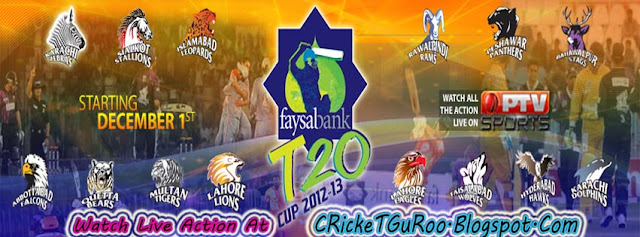 Faysal Bank T20 Cup 2012-13