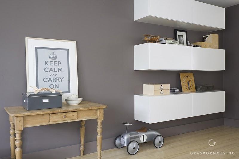Kitchen unit goes stylish livingroom storage/shelving unit ~ Get Home  Decorating